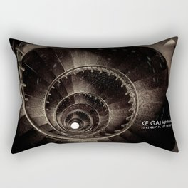 Ke Ga. Spiral staircase inside Lighthouse Rectangular Pillow