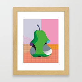 Bitten Pear Framed Art Print