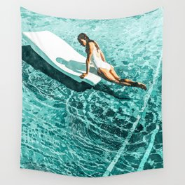 Pool Day #society6 #painting #summer Wall Tapestry