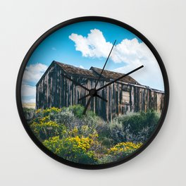 Colorful Day in Bodie Wall Clock