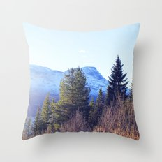 Närvik Mountains and Forest Throw Pillow