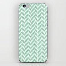 Herringbone Mint Inverse iPhone & iPod Skin