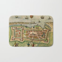 Map Of Calais 1649 Bath Mat
