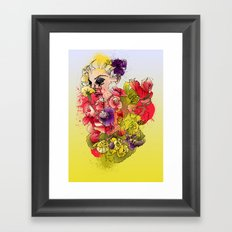 When the Petals Start Pouring Framed Art Print