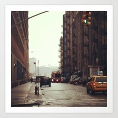 Rainy Day NYC Art Print