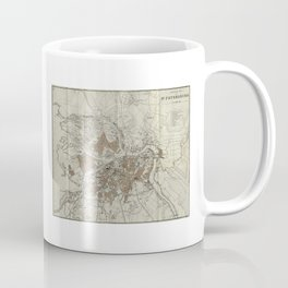 1893 Historic Map of St. Petersburg Coffee Mug