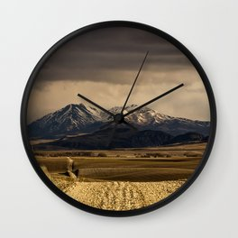 Mountain Road Photograph Wall Clock