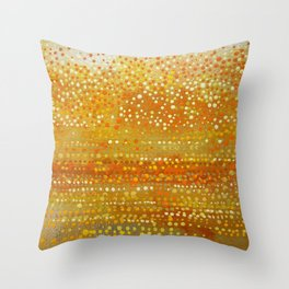 Landscape Dots - Orange Throw Pillow