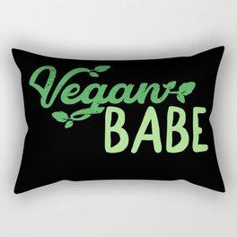 Vegan Babe Rectangular Pillow
