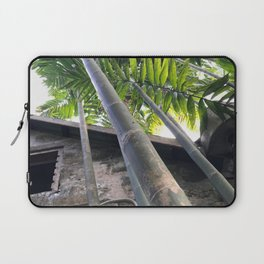 Tall Caribbean Bamboo Next to An Abandoned House Laptop Sleeve