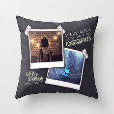 Strange Like That Throw Pillow