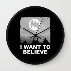 I Want to Believe in a Hero Wall Clock