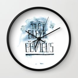 too obvious Wall Clock