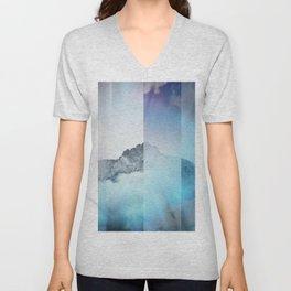 Boreal Lights on the Mountains Unisex V-Neck