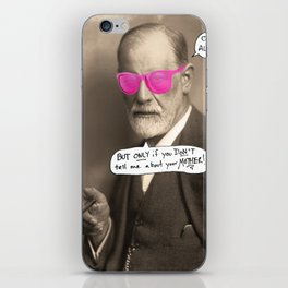 Sigmund Freud does not want to hear about your mother iPhone Skin