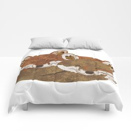 Shelter (Stacked Foxes) Comforters