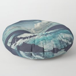 Wild Atlantic Ocean Madeira Floor Pillow
