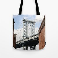 dumbo Tote Bags featuring DUMBO by Christian Hernandez