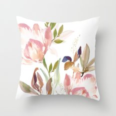Darling Blooms Throw Pillow