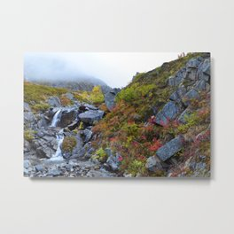 Independence Mine Waterfall Metal Print