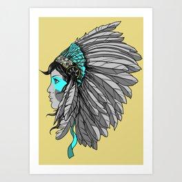 Warrior 4 - Alternative colorway Art Print