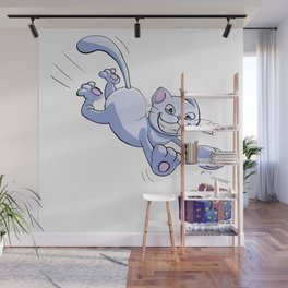 Cat's Present Chase Wall Mural