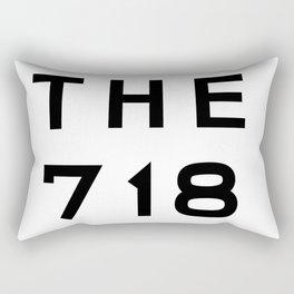 718 New York City Area Code Typography Rectangular Pillow