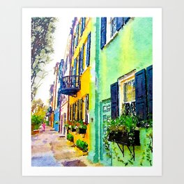 Rainbow Row - Charleston - South Carolina Art Print