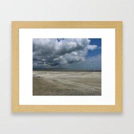 Dramatic Sky Over Golden Isles Beach Framed Art Print