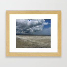 Dramatic Sky Over Golden Isles Beach Framed Art Print