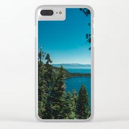 Lake Tahoe III Clear iPhone Case