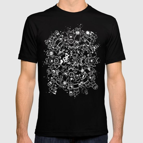 For Good For Evil - White on Black T-shirt