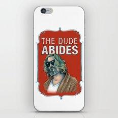BIG LEBOWSKI- The Dude Abides iPhone & iPod Skin