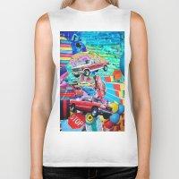 cars Biker Tanks featuring Cars by John Turck