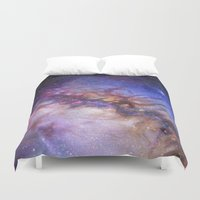 milky way Duvet Covers featuring Milky Way by Trisha Thompson Adams