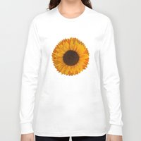 sunflower Long Sleeve T-shirts featuring Sunflower by Imagology