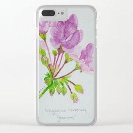 Geranium Clear iPhone Case