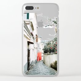 Red Background 06 Clear iPhone Case