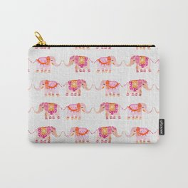 HAPPY ELEPHANTS - WATERCOLOR Carry-All Pouch