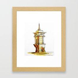 old town . fountain Framed Art Print