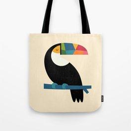 Rainbow Toucan Tote Bag
