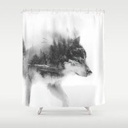 Wolf Stalking Shower Curtain