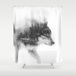 Wolf Stalking Shower Curtain