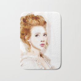 Watercolor of Savannah in Period Outfit and Hair Bath Mat