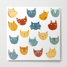 Many Cats Metal Print