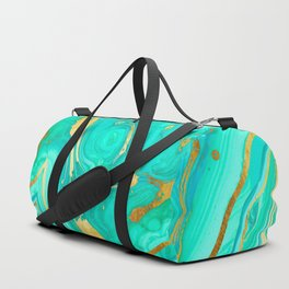 Geode 52 Gold Stone Slab Duffle Bag