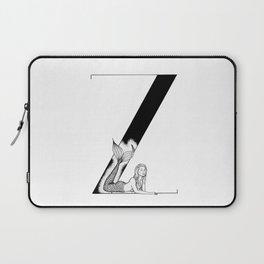 Mermaid Alphabet Series - Z Laptop Sleeve