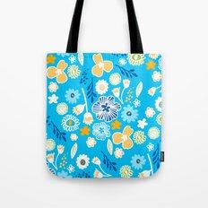swedish summer blue Tote Bag