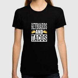 Keyboards and Tacos Funny Taco Band T-shirt