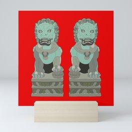 Lion Statues Mini Art Print